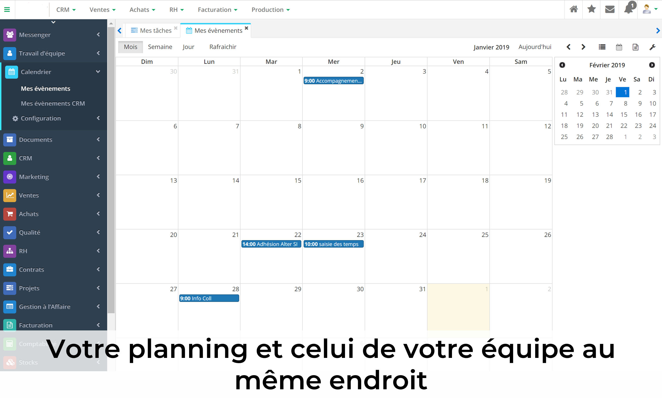 Gestion des calendriers