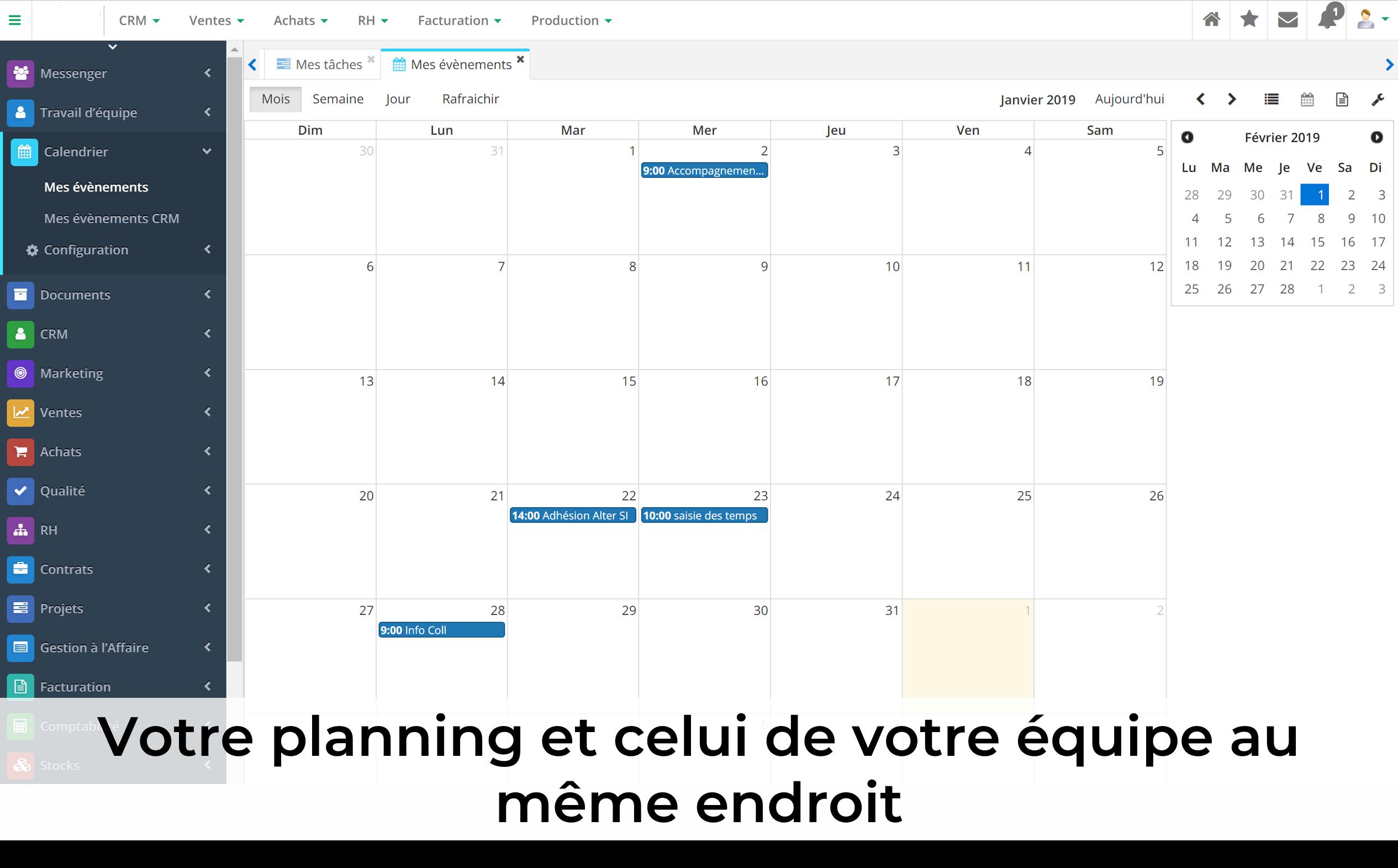 Gestion des calendriers