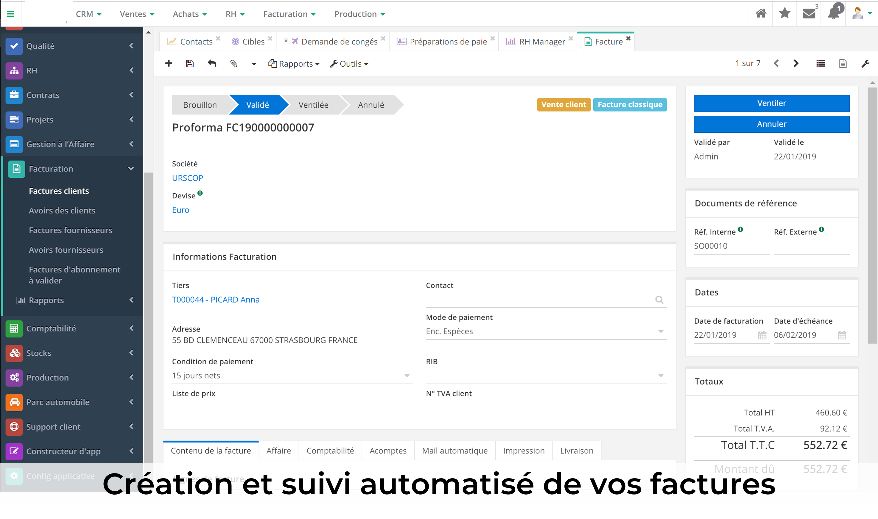 Gestion de la facturation